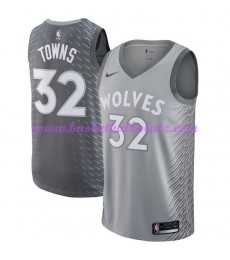 Minnesota Timberwolves Trikot Herren 2018-19 Karl Anthony Towns 32# City Edition Basketball Trikots ..